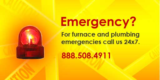 Emergency repairs promotion for 911 Mechanical, Inc.